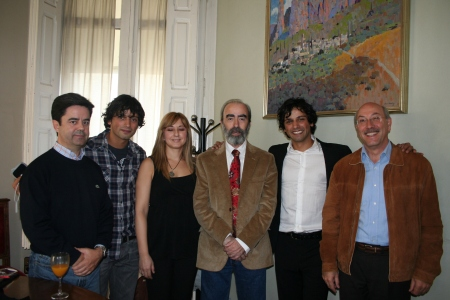 "Luis Felipe, ""Pato"" Martinez, Maria A. Lobe, Fernando Elboj, León de la Guardia y Domingo Malo."