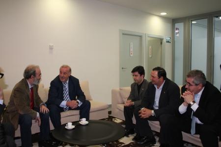 Fernando Elboj, Vicente del Bosque, Luis Felipe, Armando Borraz y José Andrés Nalda.