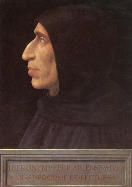 Girolamo Savonarela. Dominico. Inquisidor. (Ferrara 1452, Florencia 1498).