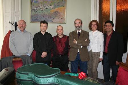 Domingo Malo, Philippe Villa, Carles Fons, Fernando Elboj, María Elena Vallejo y Enrique Costa.