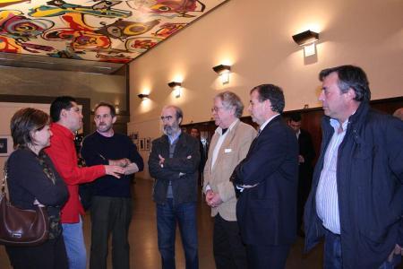 Elisa San Juan, Dominique Leyva, Vicente Lachén, Fernando Elboj, Ian Gibson, Antonio Cosculluela y Vicente Juan
