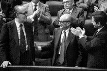Calvo Sotelo, Gutiérrez Mellado y Adolfo Suárez