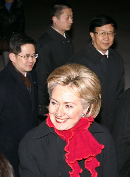 Hillary Clinton en Pekin (China).