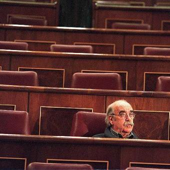 Madrid. Palacio del Congreso de los Diputados. Hemiciclo. JOSÉ ANTONIO LABORDETA.