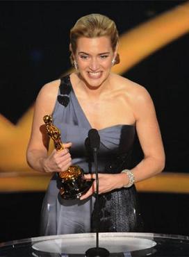 Kate Winslet, Oscar a la mejor actriz protagonista por su papel en la película The Reader.
