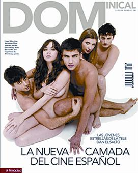 De izquierda a derecha: Hugo Silva, Ana de Armas, Maxi Iglesias, Miriam Giobanelli y Asier Etxeandia.