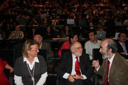 Eva Almunia, Víctor Morlan y Fernando Elboj.