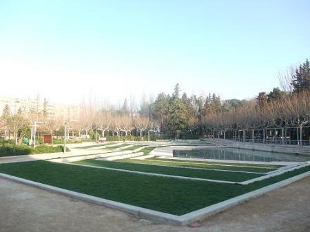 Huesca. Parque Miguel Servet. Zona nueva. Zona de invierno.