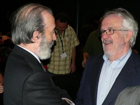 """Huesca. Con Antonio Fraguas, """"Forges"""", en el Congreso de Periodismo Digital del año pasado 2008"""