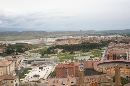 Huesca. Vista parcial del Campus Universitario oscense.