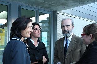 De izquierda a derecha: Ana Fernández, Amalia Aso, Fernando Elboj y Marta Aparicio.