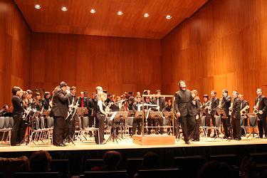 Huesca. Primer concierto de la Banda Sinfónica del Instituto Aragonés de la Juventud. Directtor: Matteo Giovanni Aderi.