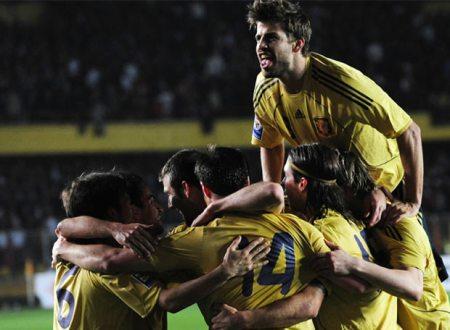 Estambul. Partido de vuelta. La selección española de fútbol gana por primera vez a Turquía en su propia casa. (02.04.2009.