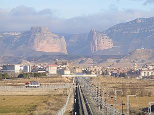 Huesca. Variante ferroviaria.