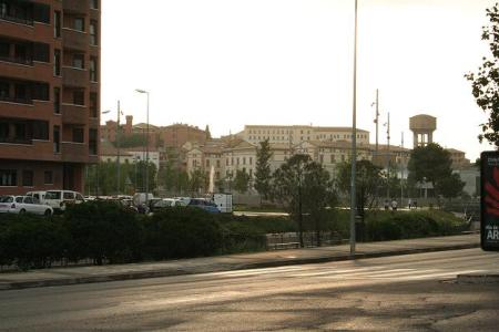 Huesca. Río Isuela. Zona en la que se instalará en breves fechas una nueva pasarela peatonal.