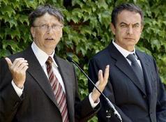 Bill Gates y  J.L. Rodríguez Zapatero