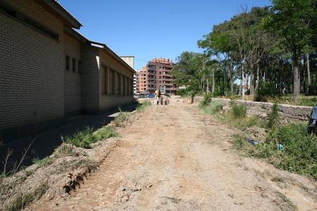 Huesca. Barrio Perpetuo Socorro. Andador.