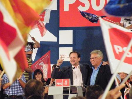 Zaragoza. Junio 2009. Marcelino Iglesias y Felipe González