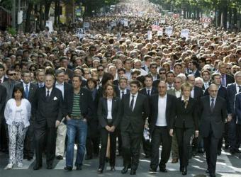 Manifestación en Bilbao contra ETA. (20-06-09). Foto: S. Cirilo.