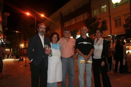 Con miembros de la Asociación Alzheimer Huesca el pasado 19 de septiembre de 2008.