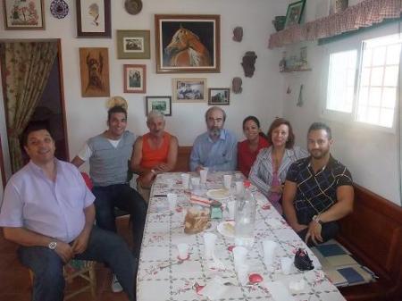 De izquierda a derecha: Ernesto, Juanjo, Pepe, Fernando, Lorena, Elisabeth y Lorenzo.