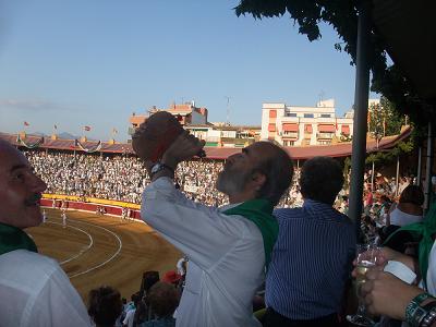 En los toros. Cuarta corrida de la Feria de Huesca. Una buena corrida.