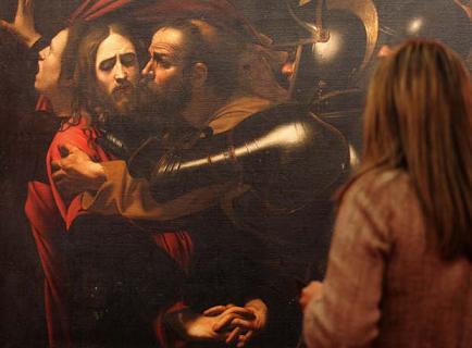 El prendimiento de Cristo, obra de Caravaggio