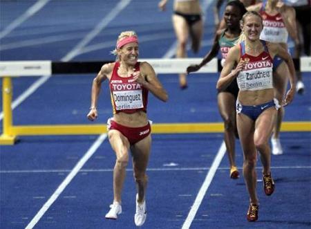 Marta Domínguez, campeona en los 3.000 obstáculos. Mundial de atletismo 2009.